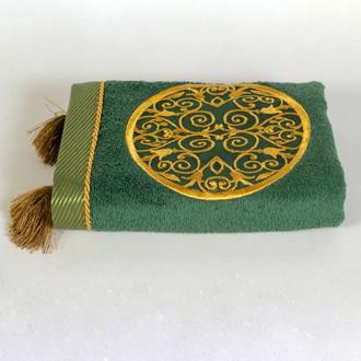Полотенце для ванной в подарочной упаковке Ecocotton ARUS органический хлопок зелёный