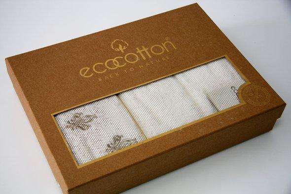 Полотенце для ванной в подарочной упаковке Ecocotton ASLISAH органический хлопок кремовый 50*90, фото, фотография
