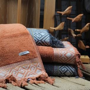 Полотенце для ванной в подарочной упаковке Ecocotton ASYA органический хлопок терракотовый 50х90