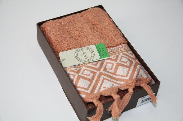 Полотенце для ванной в подарочной упаковке Ecocotton ASYA органический хлопок терракотовый 50*90, фото, фотография