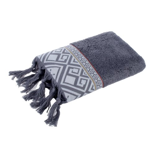 Полотенце для ванной в подарочной упаковке Ecocotton ASYA органический хлопок антрацит 50х90, фото, фотография