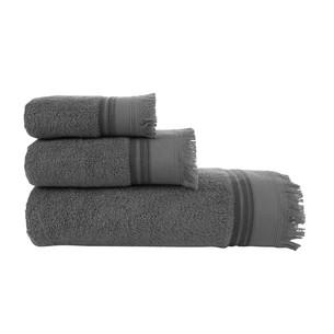 Полотенце для ванной Buldan's ALMERIA хлопковая махра антрацит 90х150