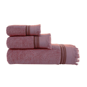 Полотенце для ванной Buldan's ALMERIA хлопковая махра грязно-розовый 90х150