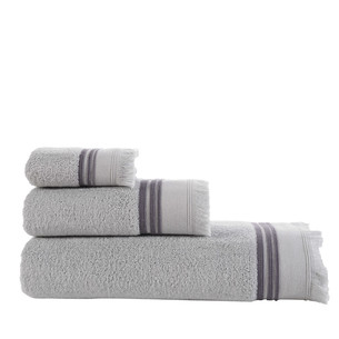 Полотенце для ванной Buldan's ALMERIA хлопковая махра серый 90х150