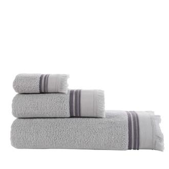 Полотенце для ванной Buldan's ALMERIA хлопковая махра серый