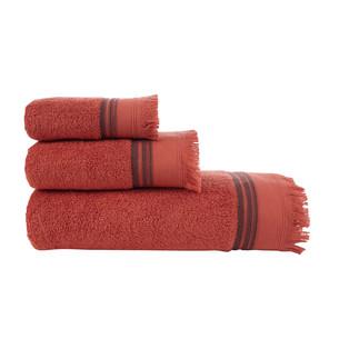 Полотенце для ванной Buldan's ALMERIA хлопковая махра кирпичный 90х150