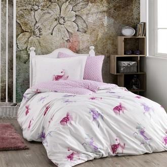 Детское подростковое постельне белье Hobby Home Collection MIA хлопковый поплин розовый