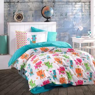 Детское (подростковое) постельне белье Hobby Home Collection MIOUU хлопковый поплин (бирюзовый)