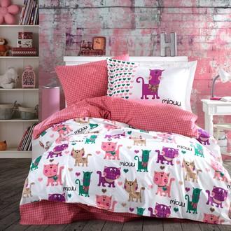 Детское (подростковое) постельне белье Hobby Home Collection MIOUU хлопковый поплин (розовый)