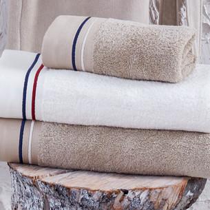 Полотенце для ванной в подарочной упаковке Ecocotton MARITIME органический хлопок белый 50х90