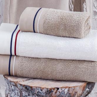 Полотенце для ванной в подарочной упаковке Ecocotton MARITIME органический хлопок белый