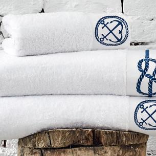 Полотенце для ванной в подарочной упаковке Ecocotton ROUTE органический хлопок белый 50х90