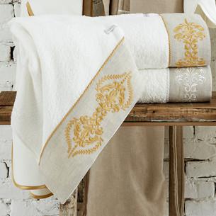 Полотенце для ванной в подарочной упаковке Ecocotton HANZADE органический хлопок кремовый 80х150