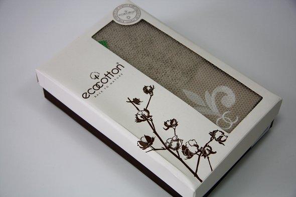 Полотенце для ванной в подарочной упаковке Ecocotton BEYZADE органический хлопок бежевый 50*90, фото, фотография