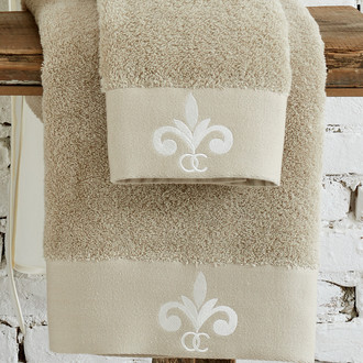 Полотенце для ванной в подарочной упаковке Ecocotton BEYZADE органический хлопок бежевый