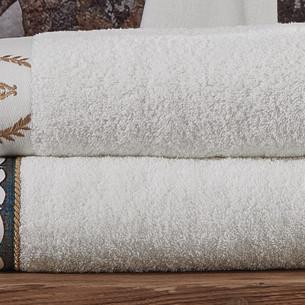 Полотенце для ванной в подарочной упаковке Ecocotton AHSEN органический хлопок мужской кремовый 50х90