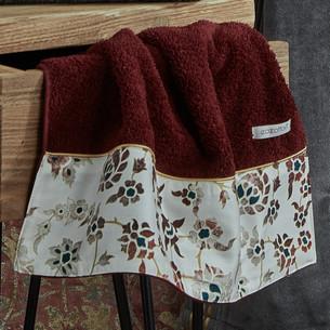 Полотенце для ванной в подарочной упаковке Ecocotton AYSIMA органический хлопок бордовый 80х150