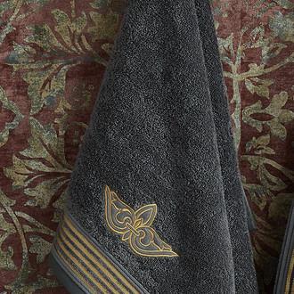 Полотенце для ванной в подарочной упаковке Ecocotton AYSIMA органический хлопок (антрацит)
