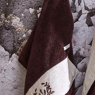 Полотенце для ванной в подарочной упаковке Ecocotton PIETRA органический хлопок коричневый 50х90