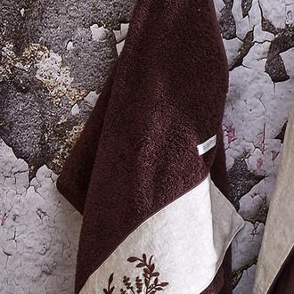 Полотенце для ванной в подарочной упаковке Ecocotton PIETRA органический хлопок коричневый