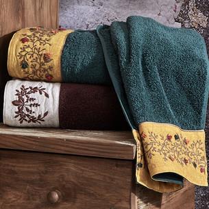 Полотенце для ванной в подарочной упаковке Ecocotton PIETRA органический хлопок зелёный 80х150