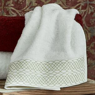Полотенце для ванной в подарочной упаковке Ecocotton TUGRA органический хлопок кремовый 50х90