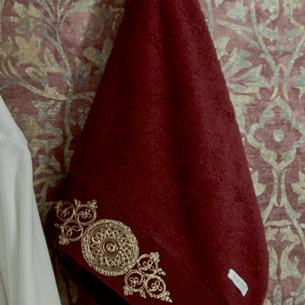 Полотенце для ванной в подарочной упаковке Ecocotton TUGRA органический хлопок бордовый 80х150