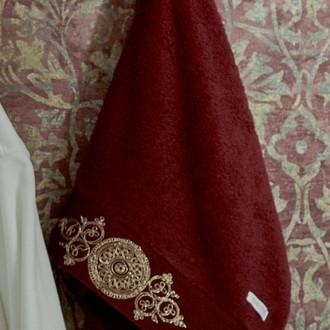 Полотенце для ванной в подарочной упаковке Ecocotton TUGRA органический хлопок бордовый