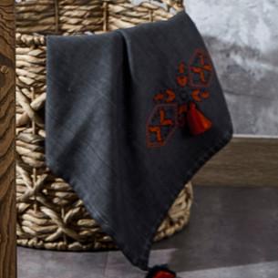 Полотенце для ванной в подарочной упаковке Ecocotton TOGA органический хлопок антрацит 80х150