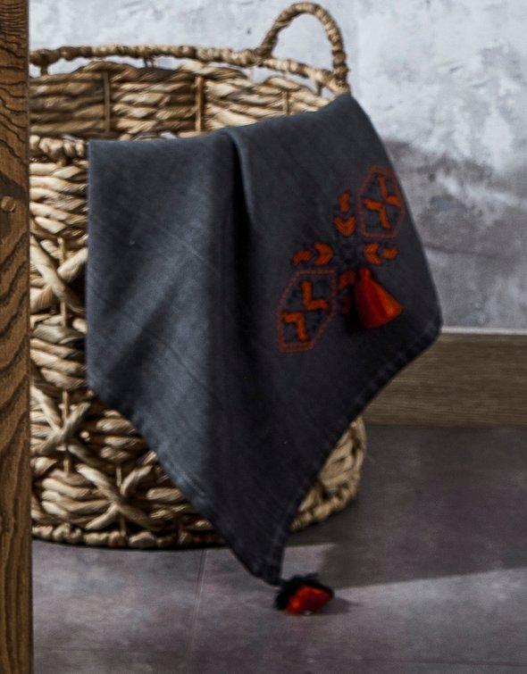 Полотенце для ванной в подарочной упаковке Ecocotton TOGA органический хлопок антрацит 80*150, фото, фотография