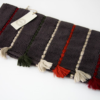 Коврик , полотенце для ног Ecocotton KATARI органический хлопок антрацит