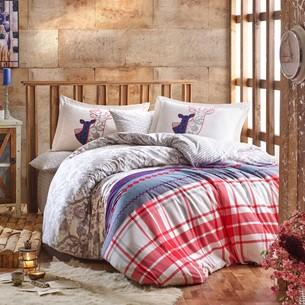 Постельное белье Hobby Home Collection VALENTINA хлопковая фланель серый 1,5 спальный