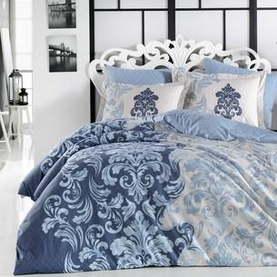 Постельное белье Hobby Home Collection MIRELLA хлопковая фланель синий евро