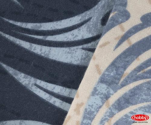Постельное белье Hobby Home Collection MIRELLA хлопковая фланель синий евро, фото, фотография