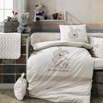 Детское постельное белье Hobby Home Collection ELINA хлопковый поплин бежевый