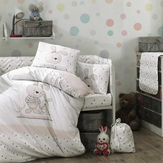 Комплект детского постельного белья Hobby Home Collection ELINA хлопковый поплин серый