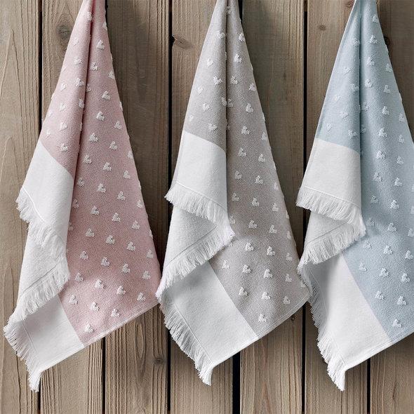 Кухонное полотенце Tivolyo Home HEARTS хлопок розовый 50*70, фото, фотография