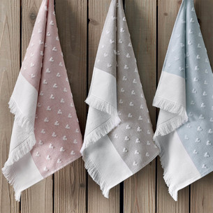 Полотенце для ванной Tivolyo Home HEARTS хлопок розовый 75х150