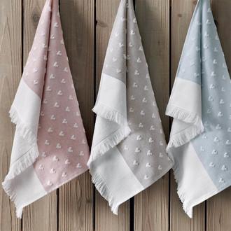 Полотенце для ванной Tivolyo Home HEARTS хлопок розовый 75*150
