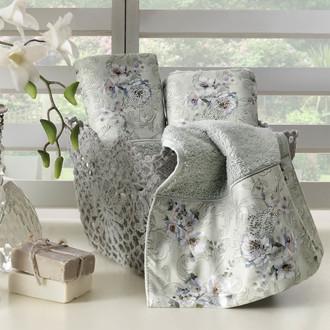 Набор полотенец-салфеток в подарочной упаковке 30*50 3 шт. Tivolyo Home NARCISSA хлопковая махра кремовый