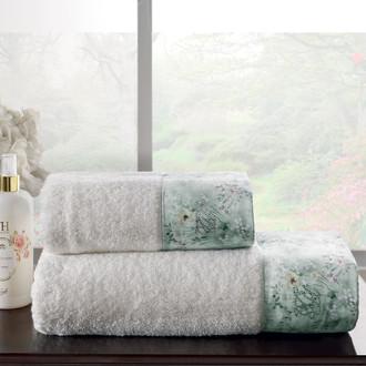 Подарочный набор полотенец для ванной 2 пр. Tivolyo Home POLINA хлопковая махра (кремовый)