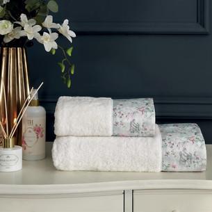 Подарочный набор полотенец для ванной 2 пр. Tivolyo Home ADORIA хлопковая махра кремовый