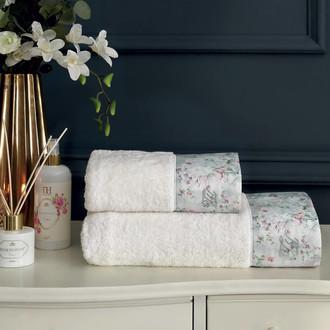 Подарочный набор полотенец для ванной 2 пр. Tivolyo Home ADORIA хлопковая махра (кремовый)