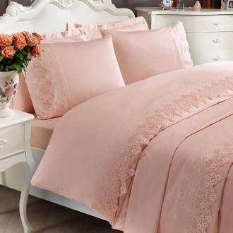 Постельное белье Tivolyo Home ALIANZ хлопковый сатин делюкс (розовый)