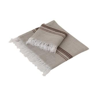 Полотенце для ванной Buldan's MARL лён, хлопок бежевый