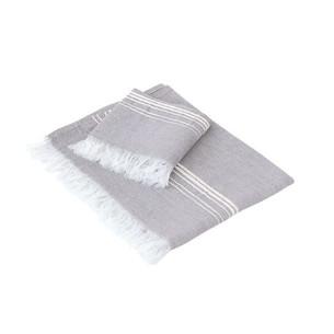 Полотенце для ванной Buldan's MARL лён, хлопок серый 30х50