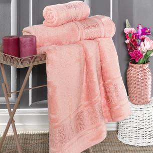 Полотенце для ванной Karna ARMOND бамбуковая махра коралловый 70х140