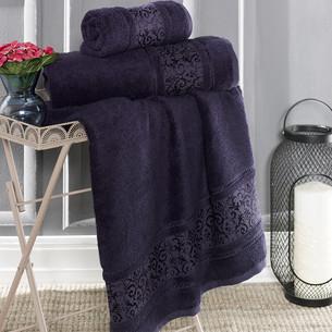 Полотенце для ванной Karna ARMOND бамбуковая махра синий 50х90