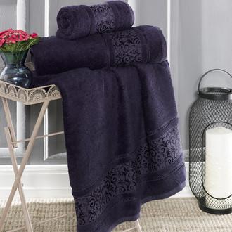 Полотенце для ванной Karna ARMOND бамбуковая махра синий