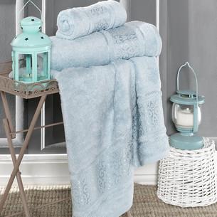Полотенце для ванной Karna ARMOND бамбуковая махра ментол 90х150